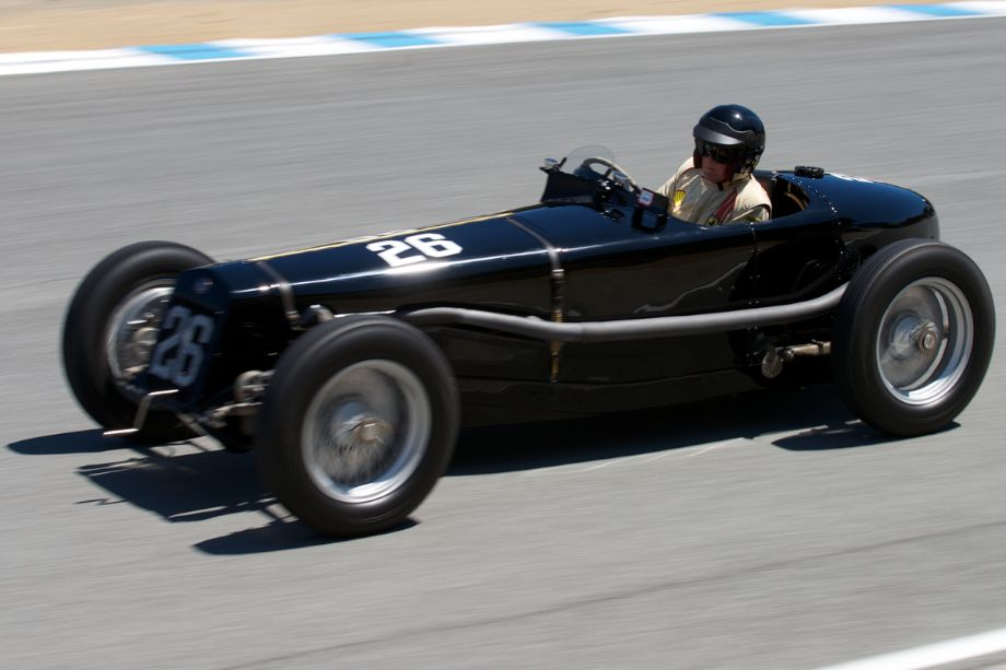 Peter Giddings in his 1926 Delage 15-S-8.