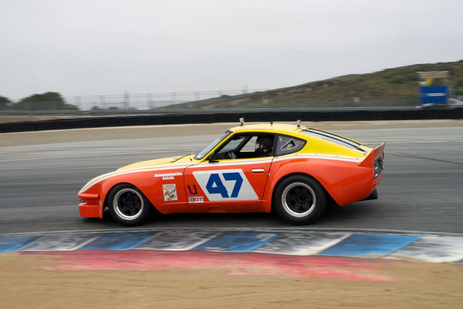 David Martin's ex-Brad Frisselle 1970 Datsun 240Z in turn eleven Wednesday morning.