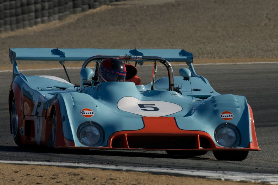 Chris MacAllister's 1973 Gulf Mirage in two.