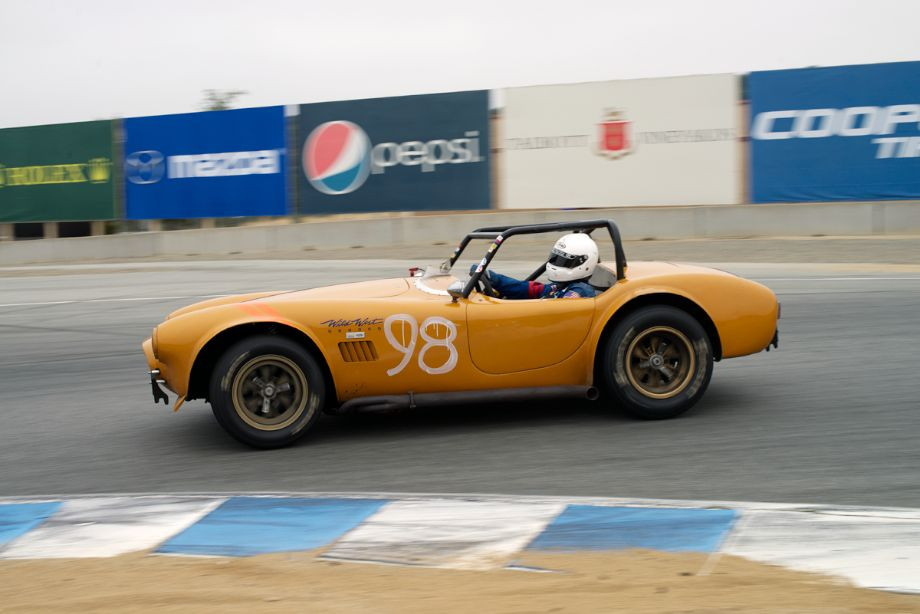 Steve Park in his 1964 Cobra. I refuse to discuss either the paint color or the number graphics on this car.