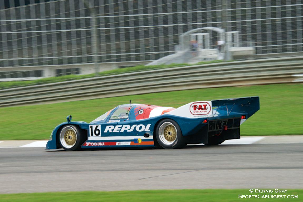 Lloyd Hawkins in his Porsche 962