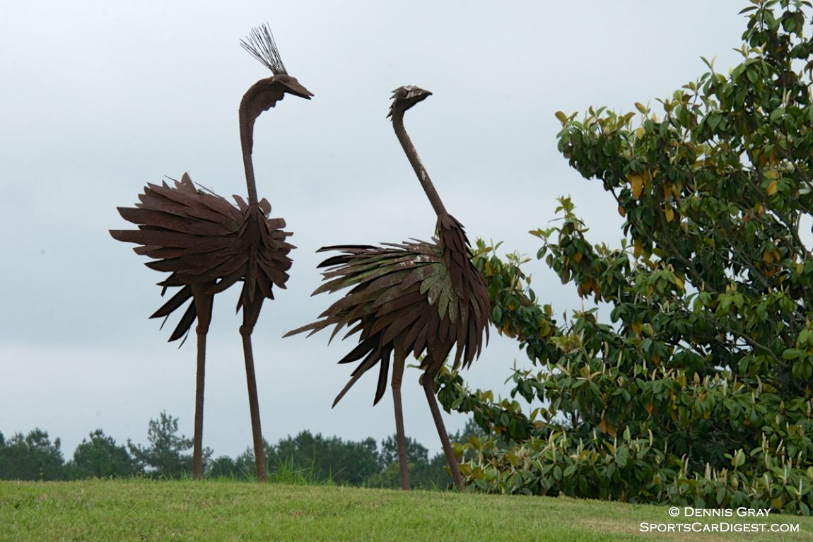 Whimsical 8 foot tall Ostriches