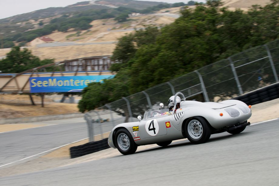 Bill Lyons in his 1960 Porsche RS60 in the Corkscrew.