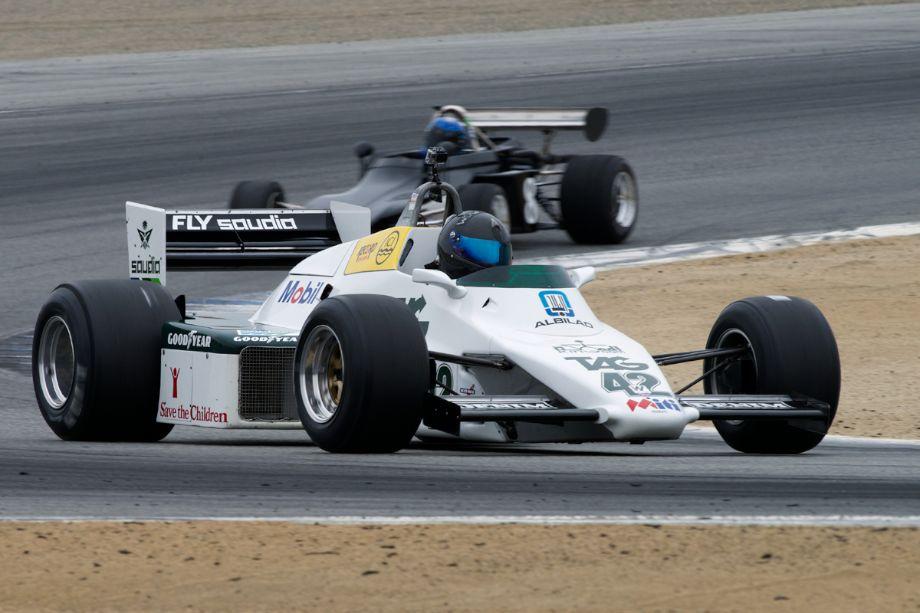 Danny Baker's ex-Keke Rosberg Williams FW08 in turn two.