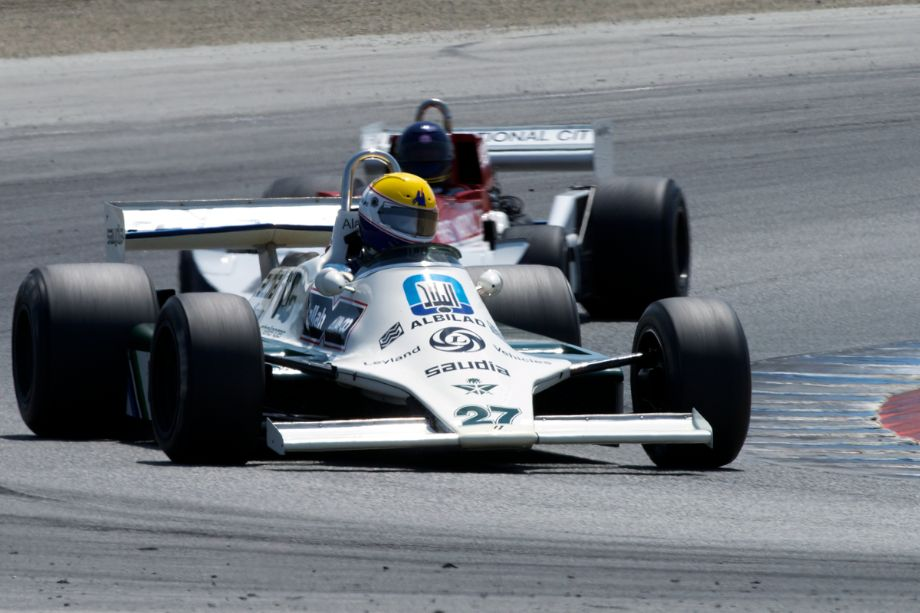Charles Nearburg's 1980 Williams FWO7B in turn two.