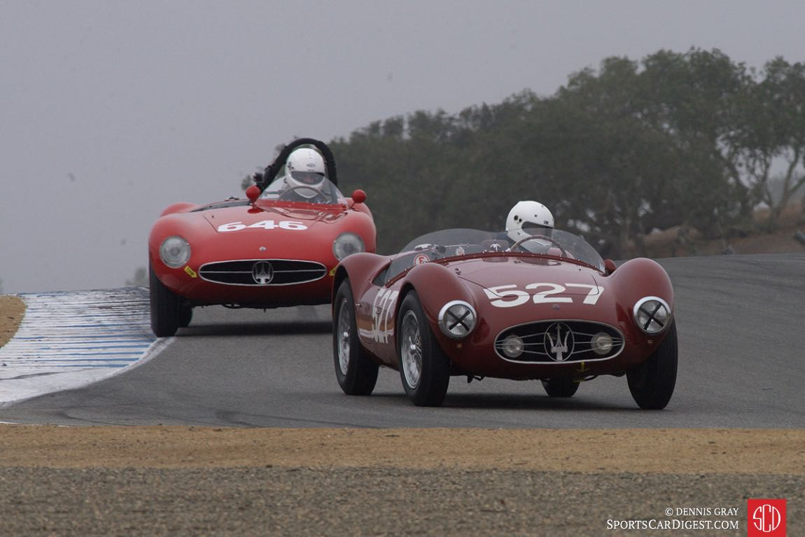 Mathias Sielecki and Adrian Sucari in a brace of wonderful Maserati A6 GCSs.