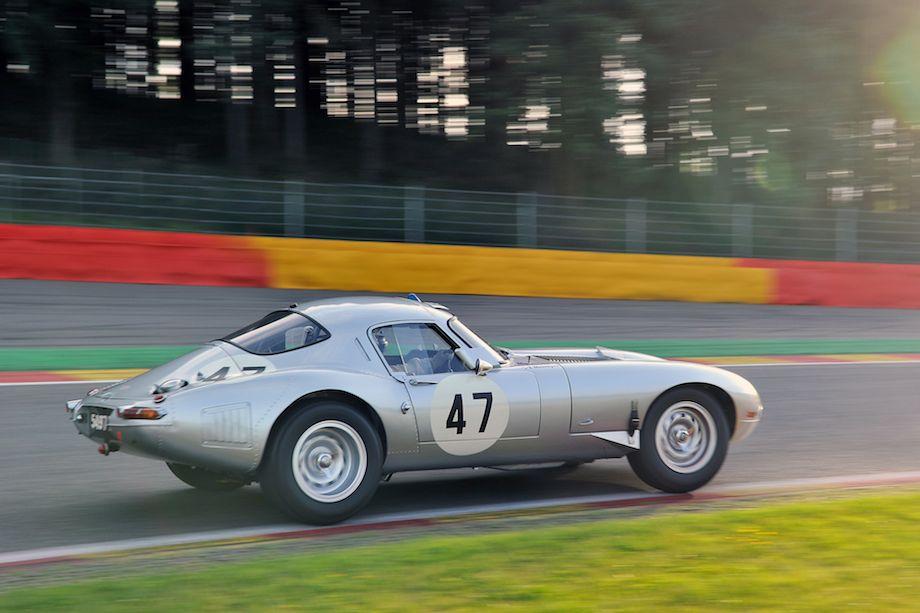 Jaguar E-Type Low Drag Coupe at Spa Six Hours (photo: Tim Scott)