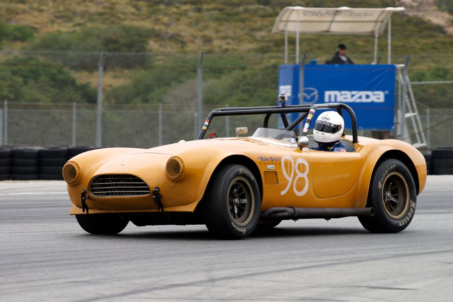 Steve Park exits eleven in his 1964 Shelby Cobra.