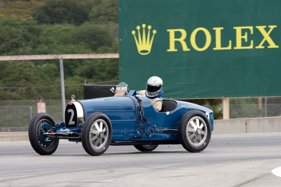 Bill Lyon's 1927 Bugatti Type 35B in turn eleven.