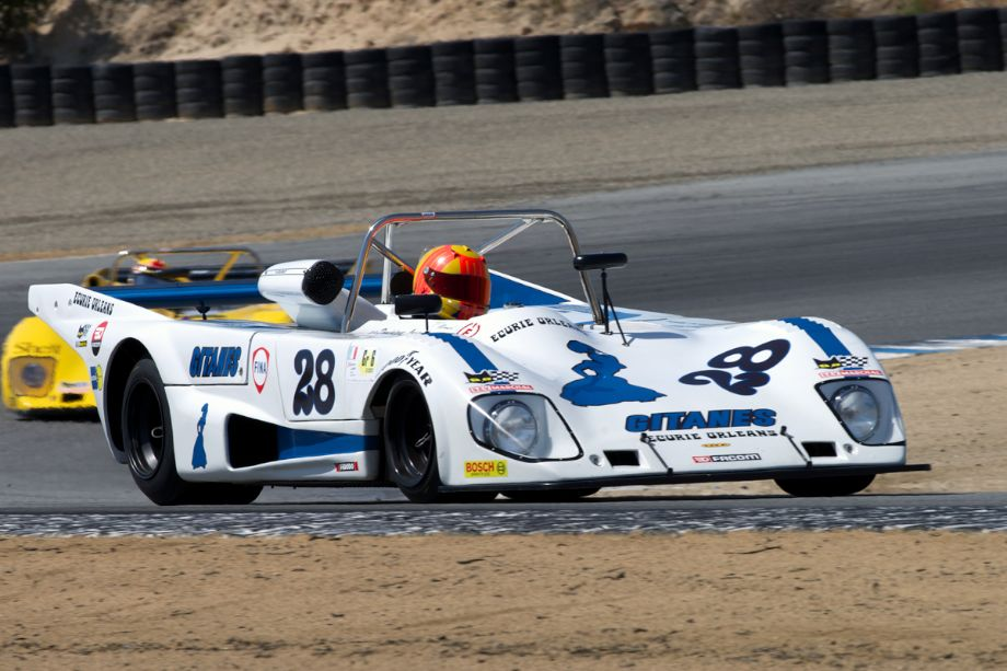 Tom Minnich in his 1977 Lola T297 in turn two.