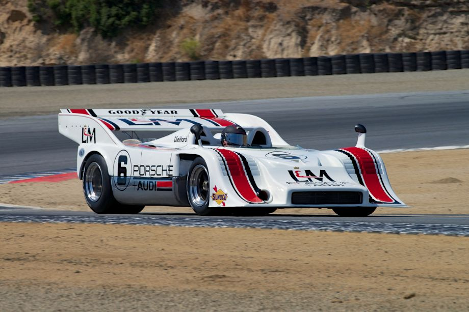 1972 Porsche 917/10 driven by Bruce Canepa in turn two.