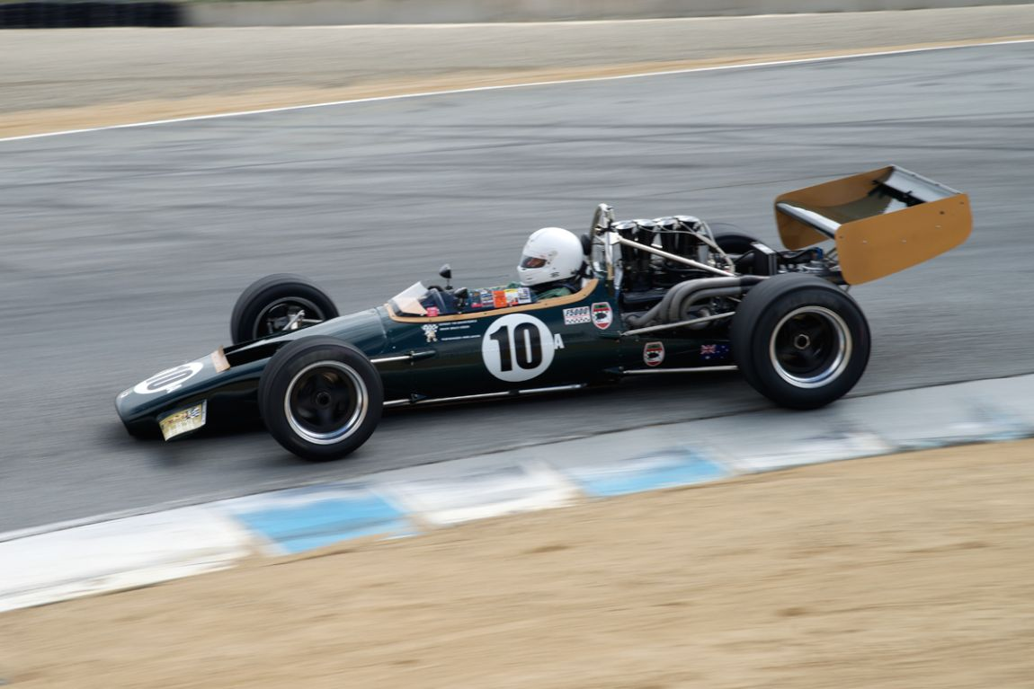 1969 McLaren M10B FA driven by Bruce Leeson in turn eight The Corkscrew.