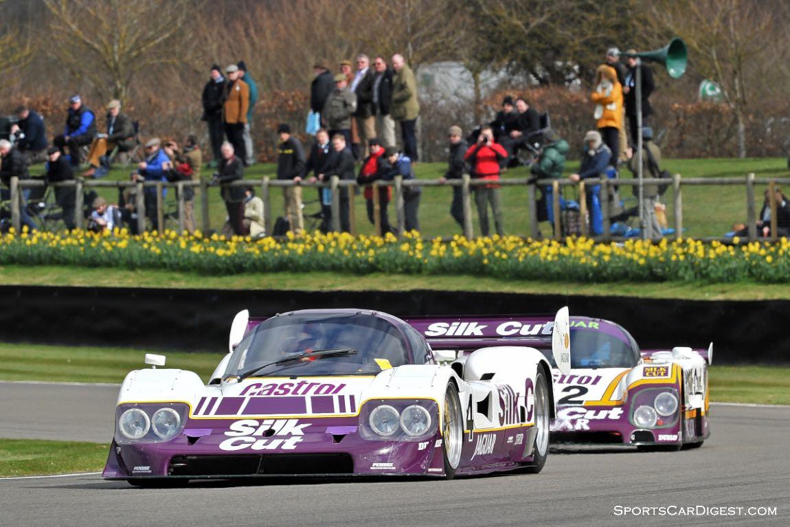 Pair of Silk Cut Jaguar XJR Group C Racers