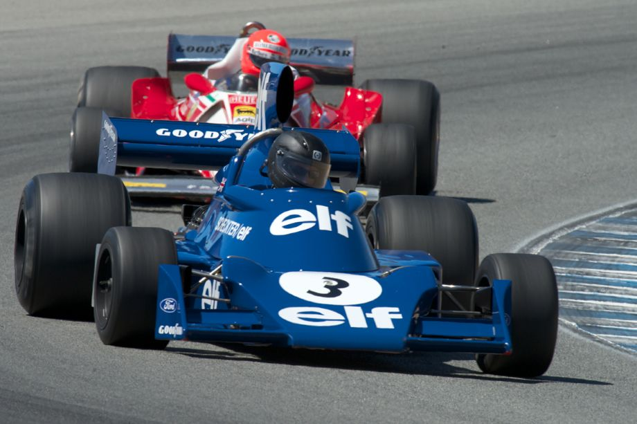 Nicholas Colyvas in a Tyrrell Seven in turn five Friday.