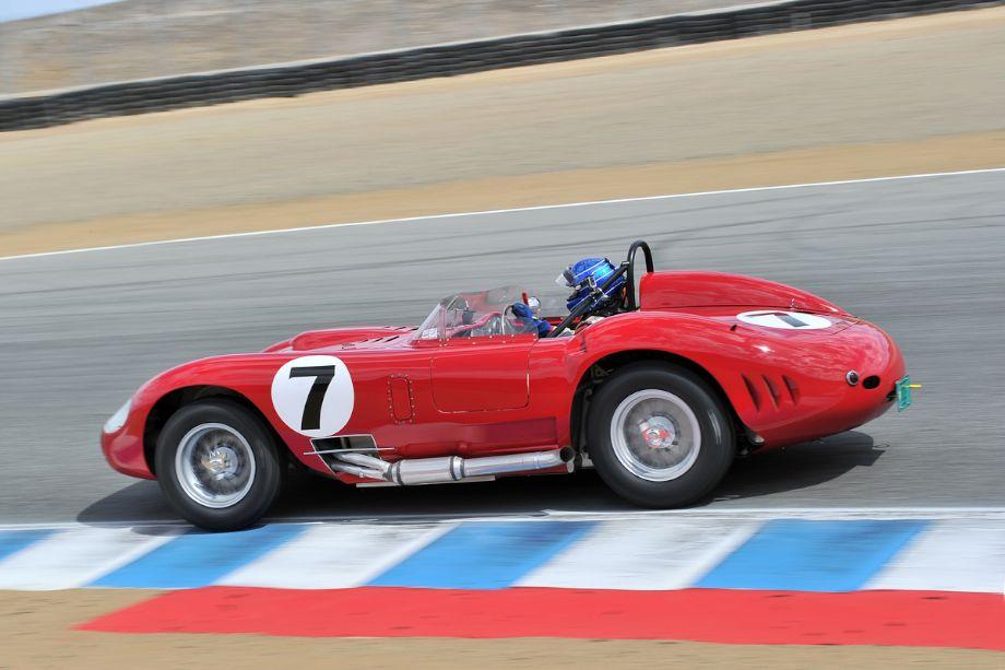 Rob Walton's 1957 Maserati 450S was a fan favorite at the Monterey Motorsports Reunion (photo: Tim Scott)