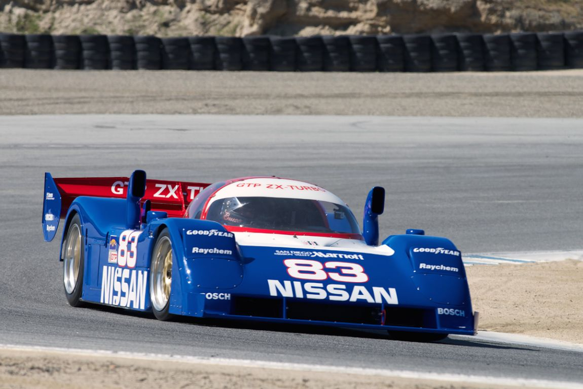 1983 Nissan GTP ZX Turbo driven by Bruce Canepa in turn six.