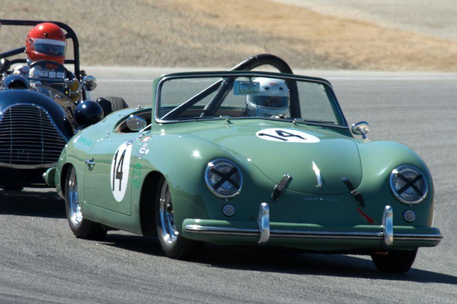 Porsche American Roadster 356 Heuer K/9-1 in turn two.