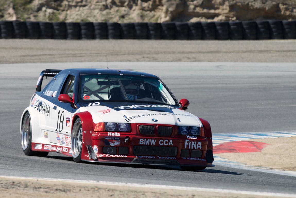 Henry Schmitt 1997 BMW E36 M3 GTR in turn six.
