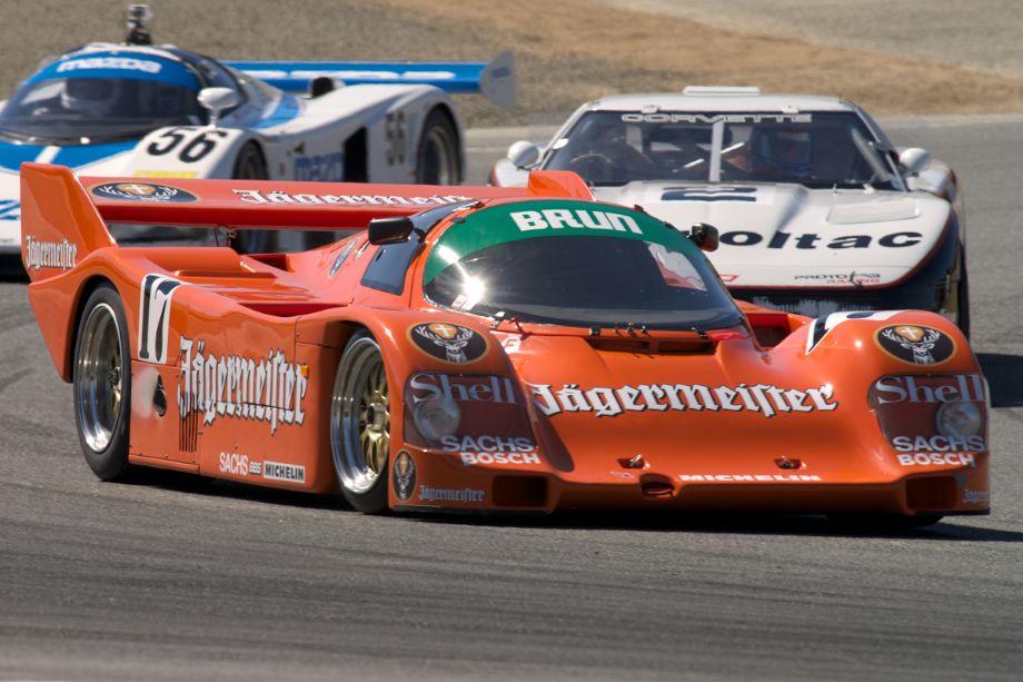 Tom Haacker's Porsche 962 in turn two.