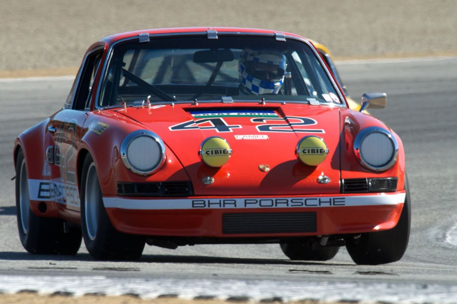 Kevin O'Callaghan's 911S coupe in turn five Friday afternoon. Look carefully as there are two Porsches in this shot.