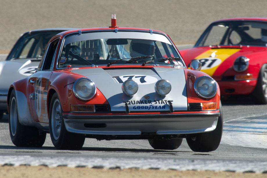 Michael O'Callaghan's 1969 911S. If you know why this Porsche has a light mounted on the roof let us know.