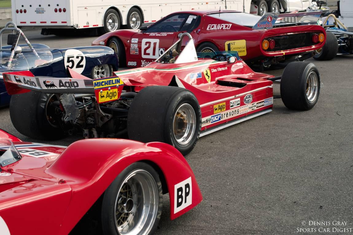 Ferraris in the pits