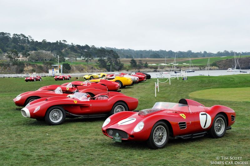 Ferrari 250 Testa Rossa Class at Pebble Beach Concours d'Elegance 2014