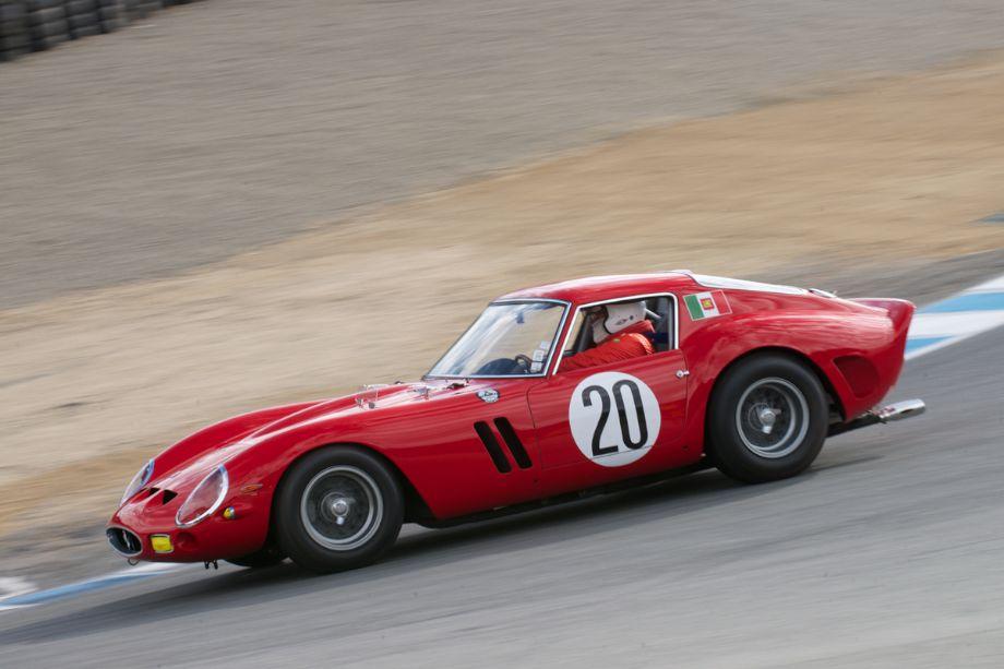 Tom Price in his Ferrari 250 GTO in the Corkscrew.