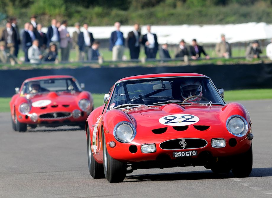 Another pair of Ferrari GTOs - the 250 GTO owned by Nick Mason and the 330 GTO owned by Carlo Voegele