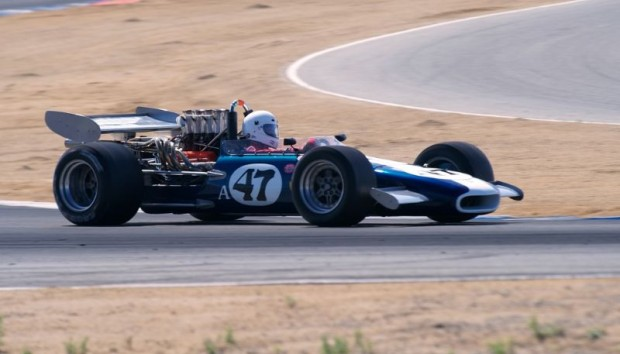 Steve's Eagle Mk5 in turn 2 at Laguna Seca