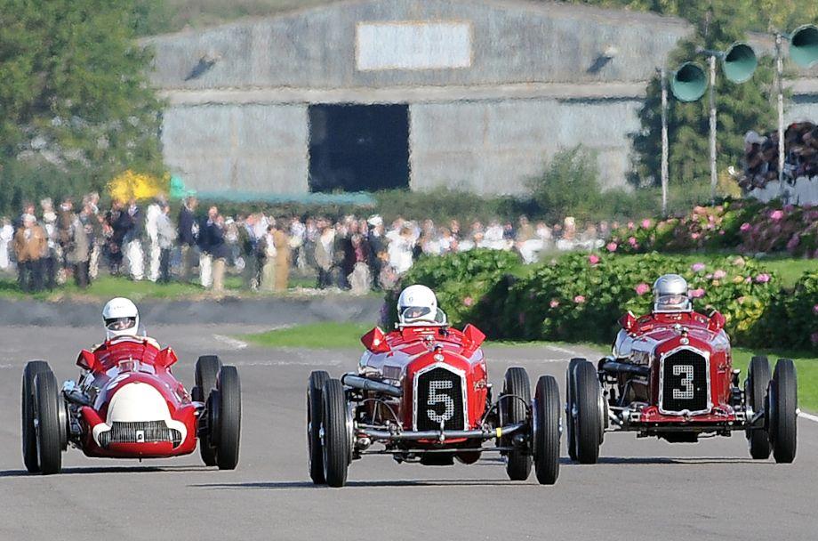 Trio of Alfa Romeos at the 2010 Goodwood Revival
