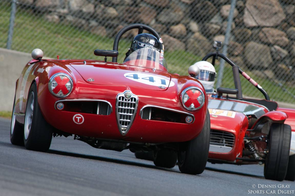 David Buchanan in his Alfa Romeo