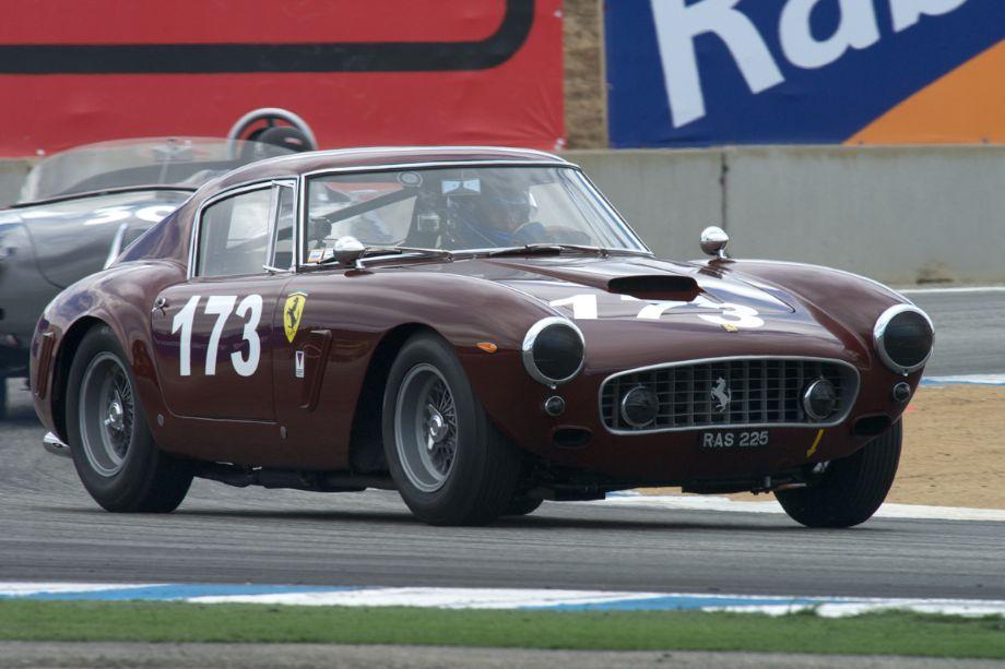 Rob Walton's Ferrari 250 SWB Berlinetta in turn eleven.