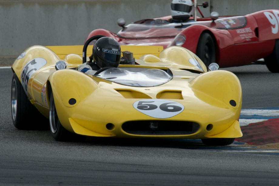 Greg Mitchell's Shelby Can-Am in turn eleven Saturday.