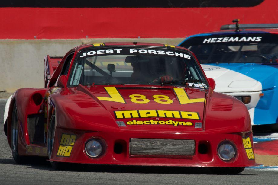 William Conner's Porsche 935J in turn eleven Saturday.