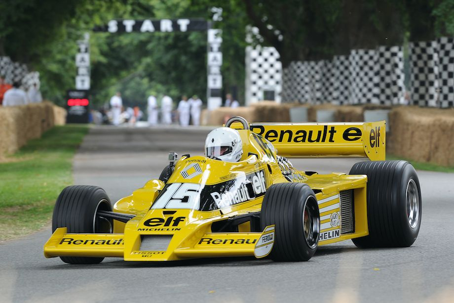 Ex-Jean-Pierre Jabouille 1977 Renault RS 01, the first turbocharged F1 car