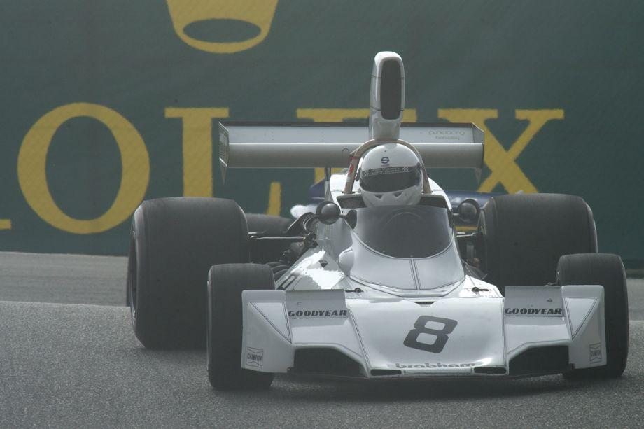 Dan Marvin's Brabham BT44 in the Corkscrew.