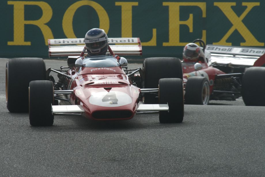 Todd Smathers in his Ferrari 312B.