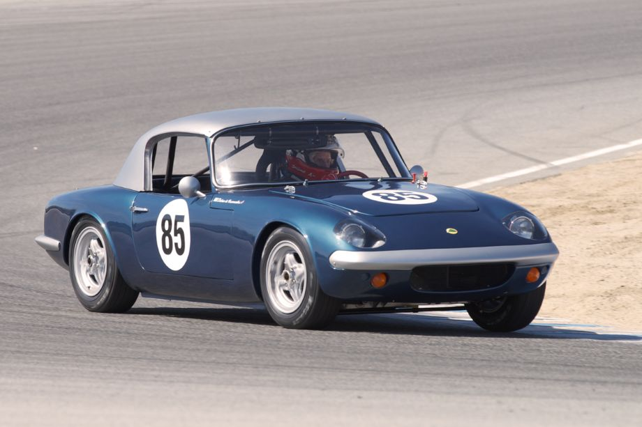 Dalmo De Vasconcelos in his 1965 Lotus Elan.