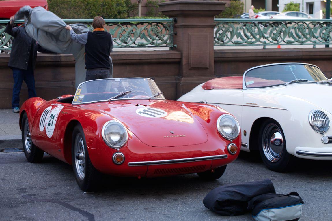 The Mittler brothers unwrap their 1955 Porsche 550 Spyder.