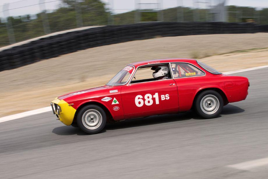 Anthony Rimicci's 1968 Alfa Romeo GT Jr. in the Corkscrew.