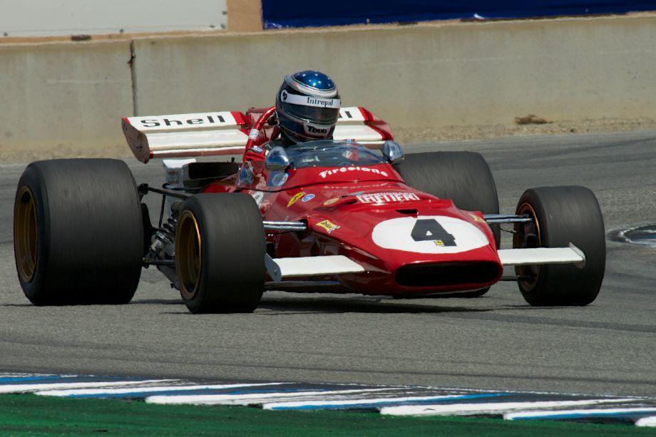 Todd Smathers in his Ferrari 312B in turn eleven.