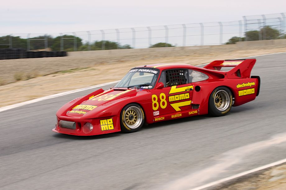 Chip Conner's wonderful Porsche 935. What a sound as this car accelerates out of five up towards six.