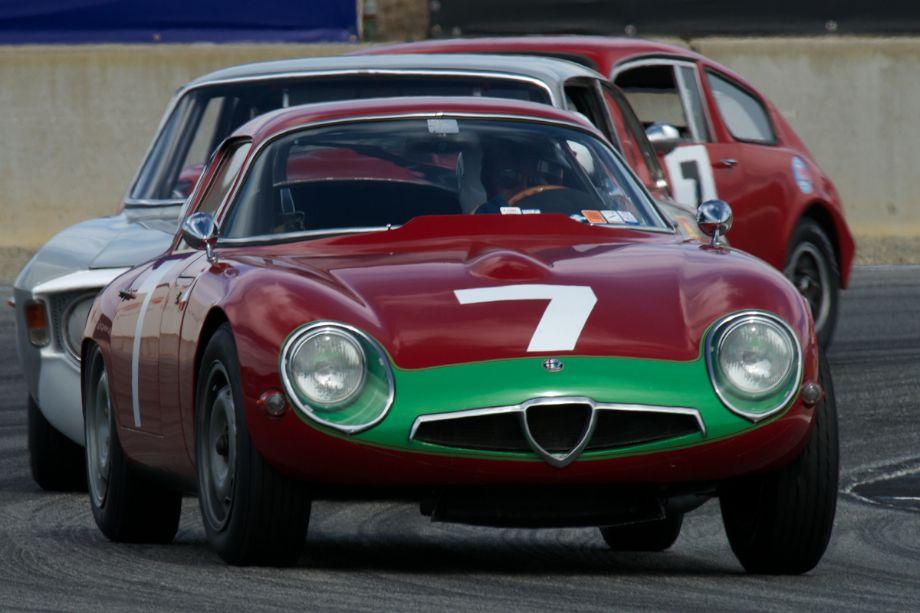Alfa Romeo TZ Coupe driven by Marnix Dillenius in turn eleven Sunday.