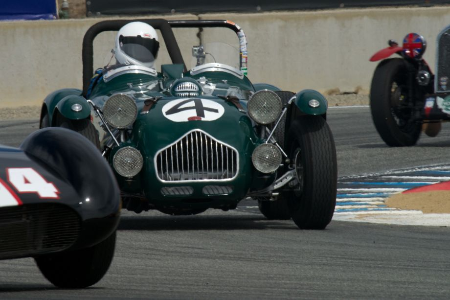 Allard J-2 Le Mans driven by Graham Smith in turn eleven Sunday.