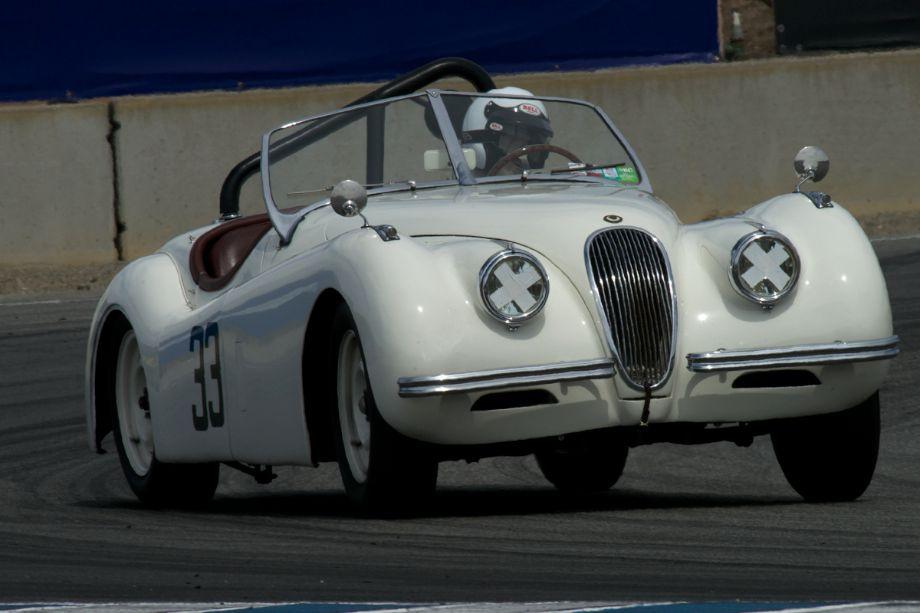 James Alder in his Jagaur XK120.