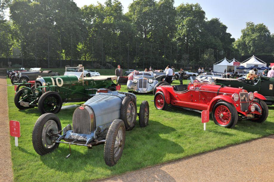 1925 Bentley 3 litre Team Car, 1928 Bugatti Type 35B and 1929 OM 665 SSMM
