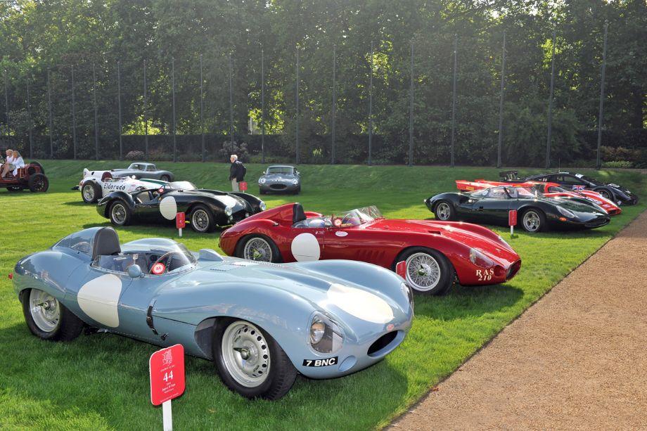 1955 Jaguar D-Type and 1955 Maserati 300S