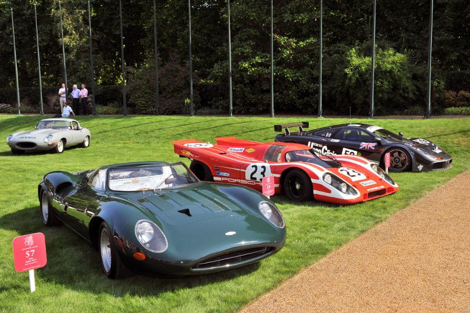 1966 Jaguar XJ13, 1969 Porsche 917K and 1995 McLaren F1 GTR