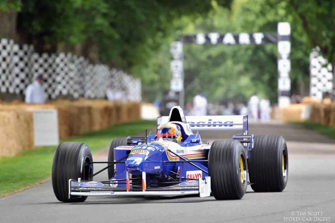 Felipe Massa drove Damon Hill's title-winning Williams FW18 Formula 1